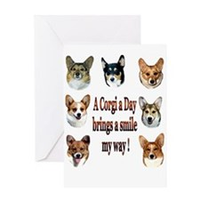A Corgi a Day Brings a Smile Greeting Card