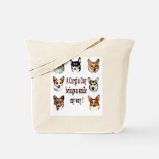 A Corgi a Day Brings a Smile Tote Bag