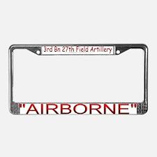 3rd Bn 27th FA License Plate Frame