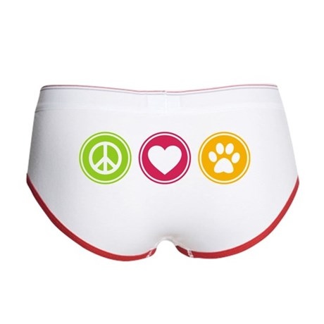 Peace - Love - Dogs Women's Boy Brief