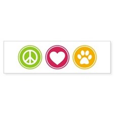 Peace - Love - Dogs Bumper Sticker