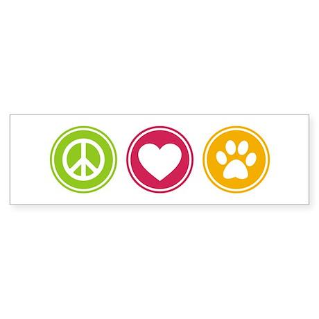 Peace - Love - Dogs Sticker (Bumper)