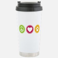 Peace - Love - Dogs Stainless Steel Travel Mug