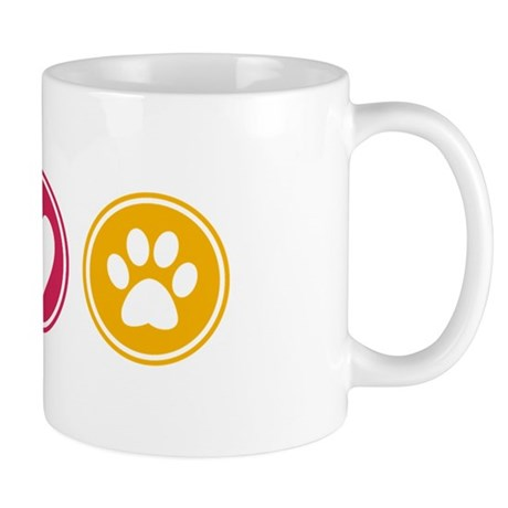Peace - Love - Dogs Mug