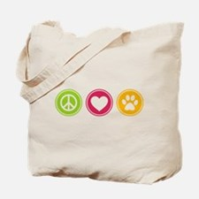 Peace - Love - Dogs Tote Bag