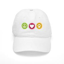 Peace - Love - Dogs Baseball Cap
