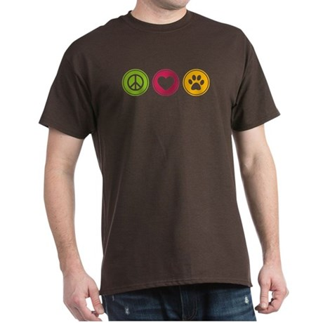 Peace - Love - Dogs Dark T-Shirt