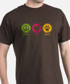 Peace - Love - Dogs 1 T-Shirt