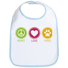 Peace - Love - Dogs 1 Bib
