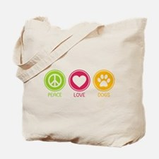 Peace - Love - Dogs 1 Tote Bag
