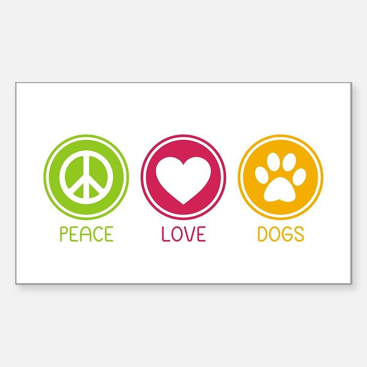 Peace - Love - Dogs 1 Sticker (Rectangle)