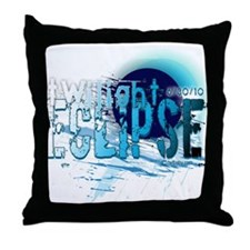Eclipse Reflect Blue by Twibaby Throw Pillow