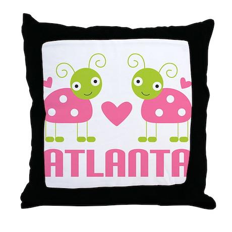 Ladybug Atlanta Throw Pillow