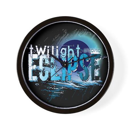 Eclipse Reflect Blue by Twiba Wall Clock
