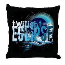 Eclipse Reflect Blue by Twiba Throw Pillow