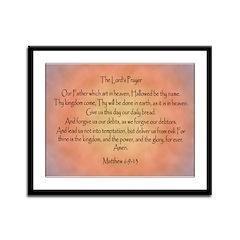 The Lord's Prayer Framed Panel Print