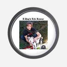A Dog's Life Rescue Wall Clock