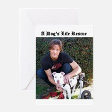 A Dog's Life Rescue Greeting Card
