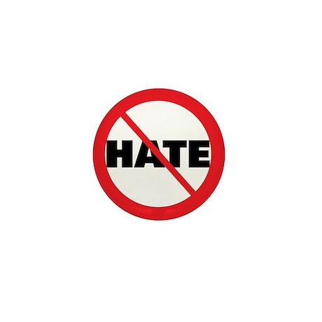 No Hate-Circle Slash Mini Button (10 pack)