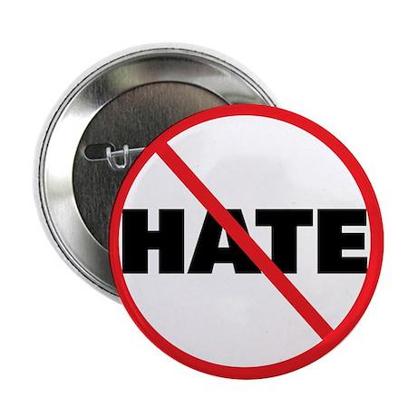 "No Hate-Circle Slash 2.25"" Button (100 pack)"