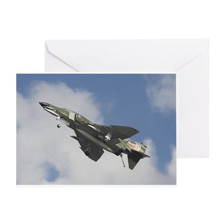 F4 Phantom in Flight! Greeting Card