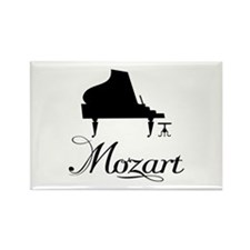 Piano Mozart Rectangle Magnet