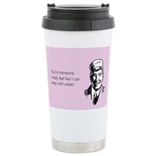 Sleep With Sober Stainless Steel Travel Mug