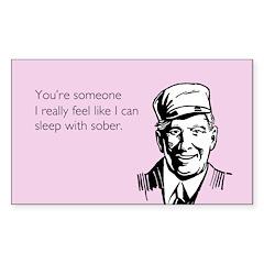 Sleep With Sober Decal
