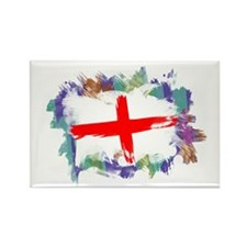 Colorful England Rectangle Magnet