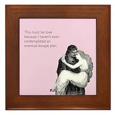Must Be Love Framed Tile