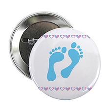 "Baby Boy Feet 2.25"" Button"