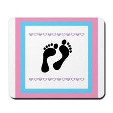 Black Footprints Mousepad