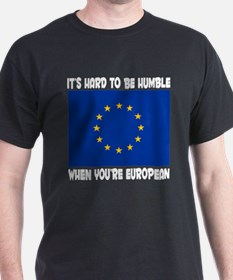 Europe European Pride Black T-Shirt