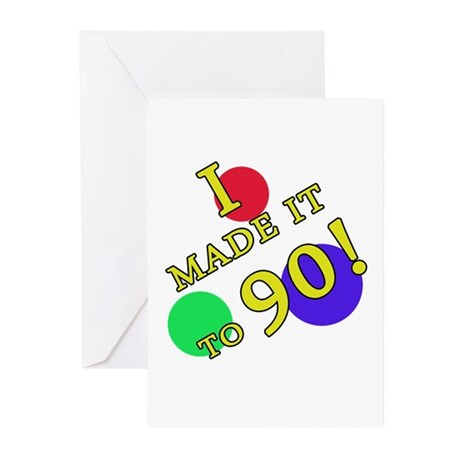 Made It To 90 Greeting Cards (Pk of 10)