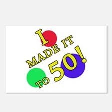 Made It To 50 Postcards (Package of 8)