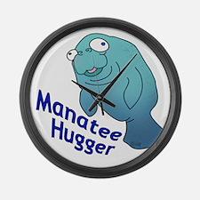Manatee Hugger Large Wall Clock