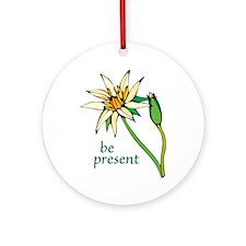 Lotus Flower/Be Present Ornament (Round)