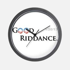 Good Riddance Wall Clock