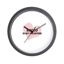 Rocco Is My Valentine Wall Clock