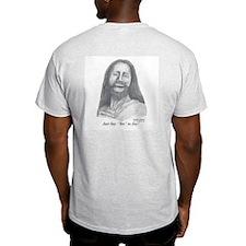 """Just Say """"Yes To Joy"""" Ash Grey T-Shirt"""