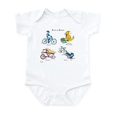 Dogs on Bikes Infant Bodysuit