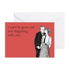 Grow Old Greeting Card