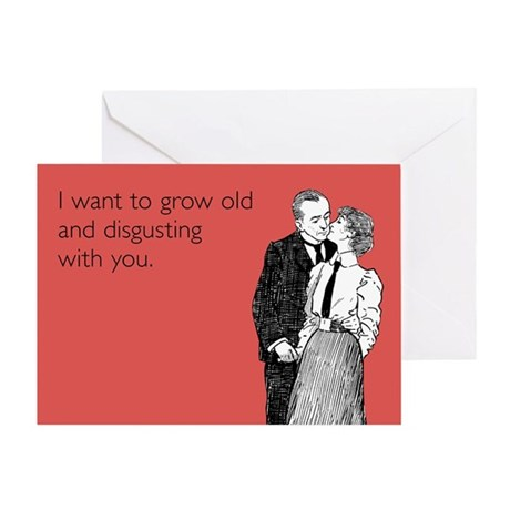 Grow Old Greeting Card