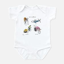 Cats on Bikes Infant Bodysuit