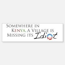 Obama, Kenyan Idiot Sticker (Bumper)