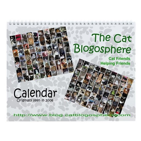 Blogging Cat Friends Helping Friends Calendar