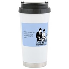 Meeting You Stainless Steel Travel Mug