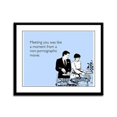 Meeting You Framed Panel Print