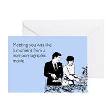 Meeting You Greeting Card