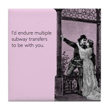 Subway Transfers Tile Coaster